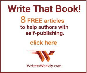 Write That Book! 8 articles to help authors with self-publishing.