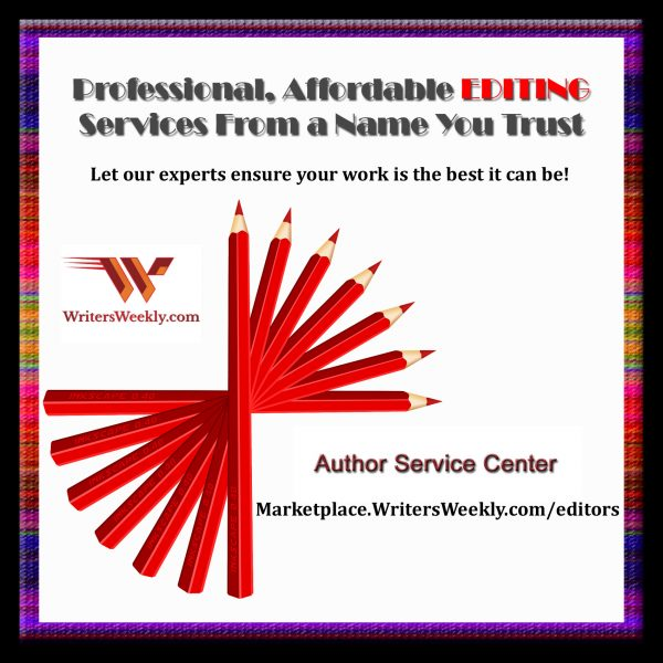 Get Professional Editing Services from WritersWeekly Author Service Center
