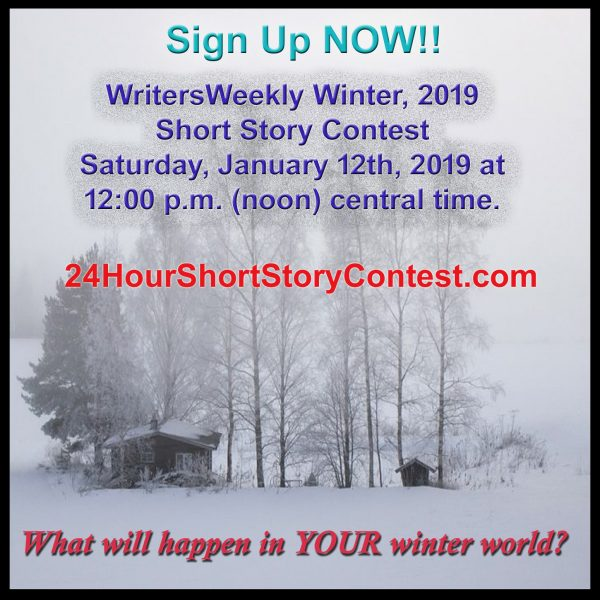 WritersWeekly Winter, 2019 Short Story Contest