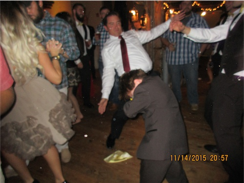 """Give Mason (age 9) and dance floor and that boy gets DOWN!!! He was doing the """"Rag Doll,"""" and everybody else joined in."""