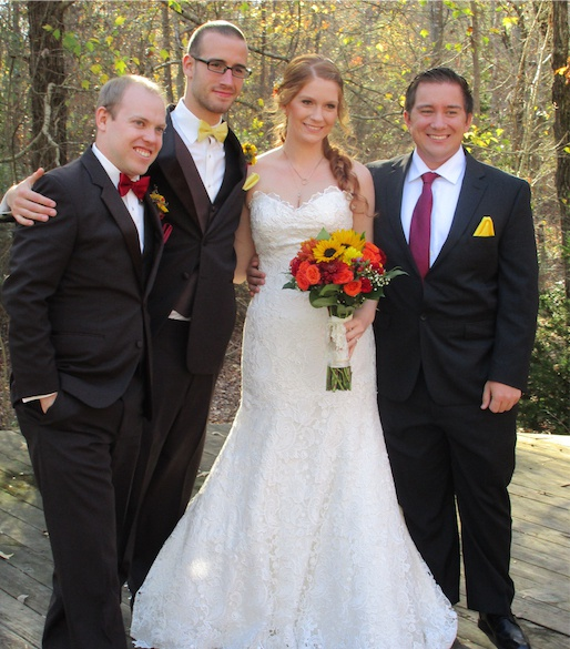 Ali with her three oldest brothers
