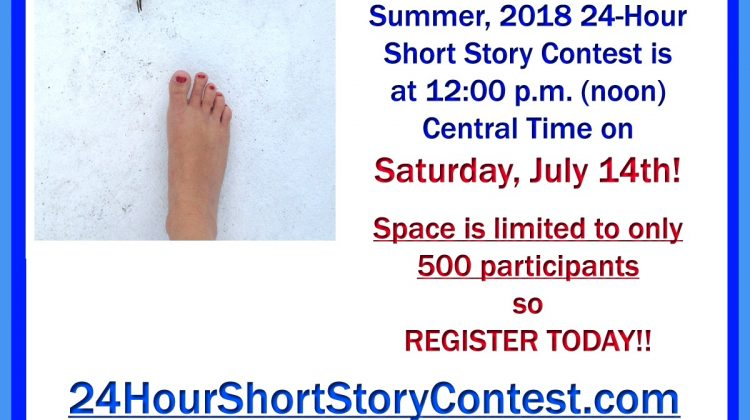 THIS SATURDAY! Sit in the Nice, Cool Air Conditioning, and Write with Us! 1st Place Gets $300!!