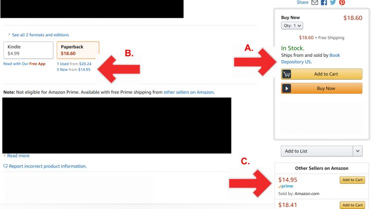 """IS THIS EVEN LEGAL?! Amazon is Giving Their Main """"Buy Buttons"""" to Book Depository, Which AMAZON Owns AND They Are Inflating Those Book Prices!"""