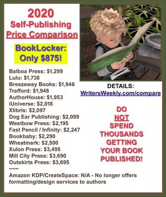 2020 Self-Publishing Price Comparison!