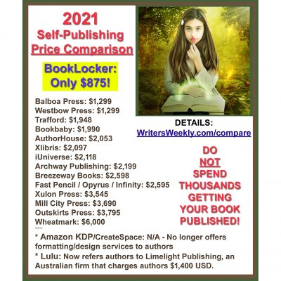 2021 Self-Publishing Price Comparison!
