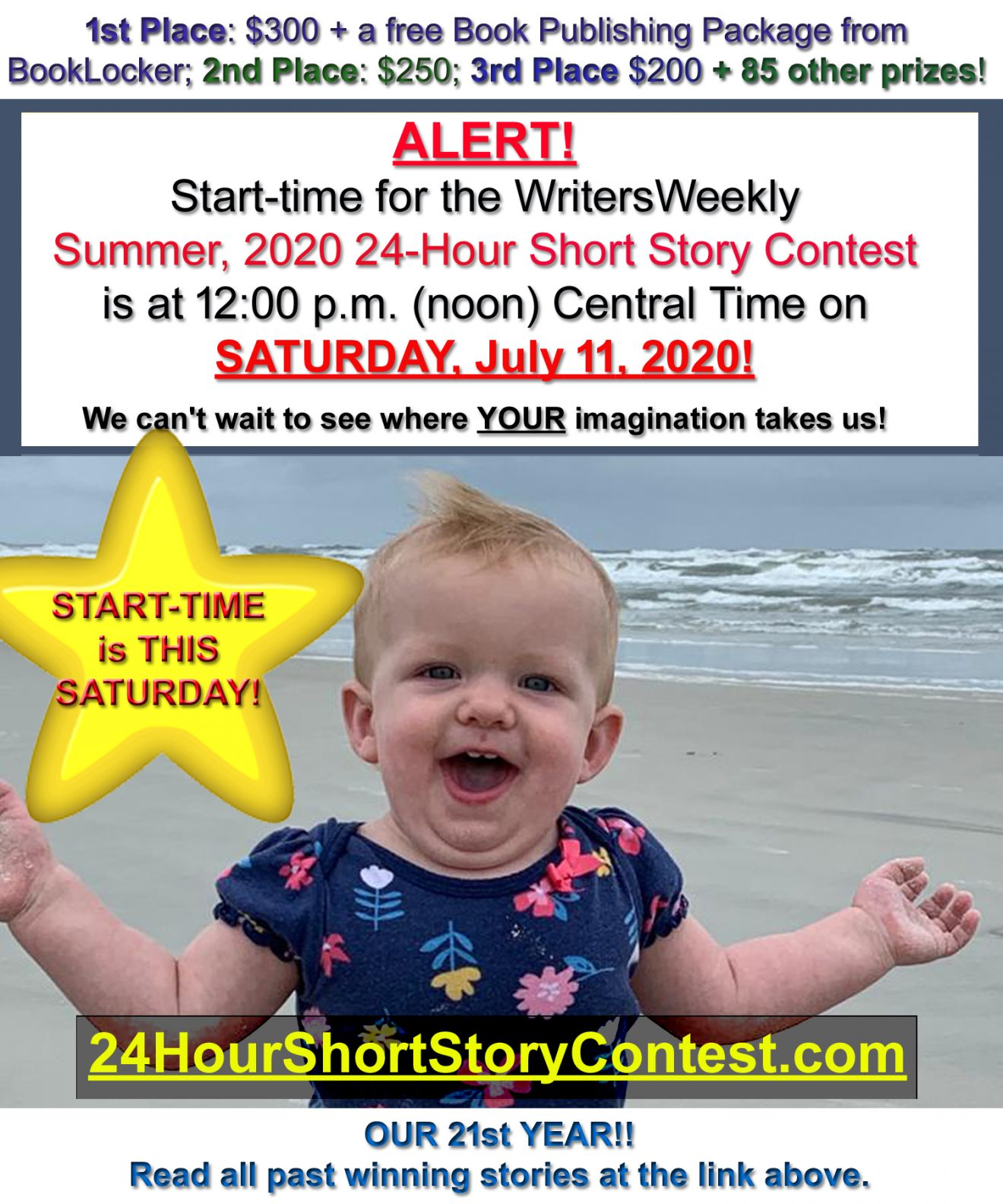 LAST CHANCE! THIS SATURDAY!! What will the Summer, 2020 24-Hour Short Story Contest Topic Be?!?!