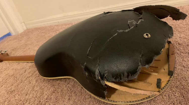 I Ran Over My Guitar. Yes, I Really Did…